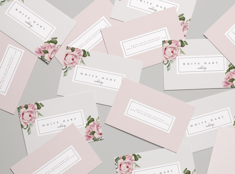 Business Card Template, Modern Business Card Design, Flower ...