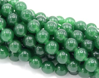 Pearls 8mm aventurine round green jade natural stone PGAV201603