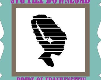 bride of frankenstein gothic horror SVG Files For Silhouette Studio and Cricut Design Space SIGN CUT vinyl