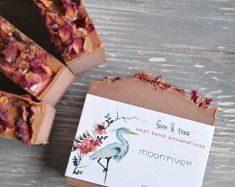 moonriver // handcrafted, handmade, natural, vegan, shea butter, cherry almond soap