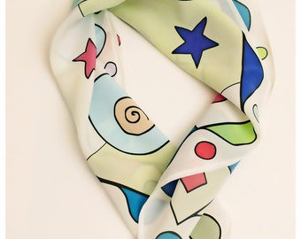 Sunshine silk neck scarf or silk bandana