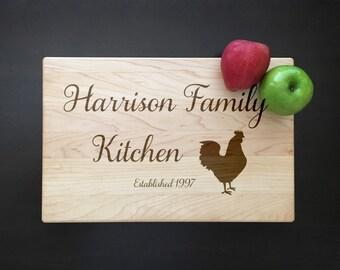Chicken Cutting Board Rooster Kitchen Decor Grandma Mom Gift Rooster Cutting Board Country Kitchen Decor Farmhouse Kitchen Personalized