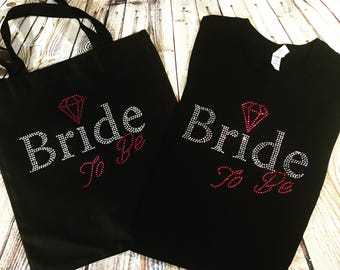 Exited Bride To Be (shirt&tote) Combo