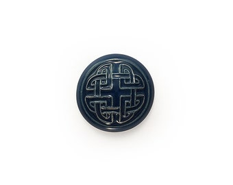 Ceramic Blue Celtic Cabochon 1 piece