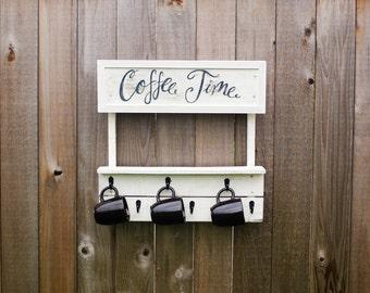 Coffee Mug Rack / Coffee Mug Holder  / Mug Holder / Mug Rack / Coffee Cup Holder / Coffee Mug Tree / Cup Rack / Coffee Cup Rack / Cup Rack