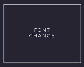 Premade Logo Add On: Font Change