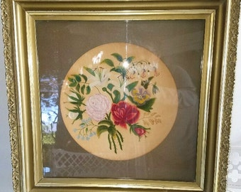 Theorem Painting on Velvet - Last Quarter of 19th Century