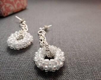 Beaded earrings, Dangle earrings, seed bead earrings, beaded jewelry, gift for her, bead earrings, bead weaving