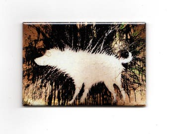 Banksy Magnet -  dog splatter paint