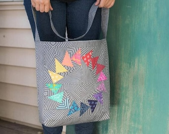 Easy Market Tote Kit featuring Slow & Steady by Tula Pink