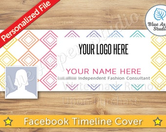 Facebook Timeline Cover Photo JPG File Personalized Name Banner FB Profile Image jpg jpeg Logo  FBT106