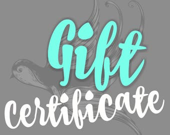 GIFT CERTIFICATE ~ Funky Birdie Amber & Gemstone Jewelry - Virtual Gift Certificate: Choose your own amount!