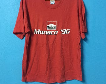 Rare!!vintage 90s Marlboro world championship team shirt monaco circuit 1996