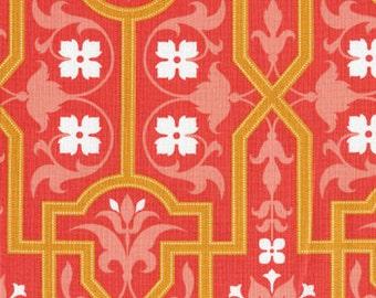 Joel Dewberry Deer Valley Architectural in Persimmon orange tan fabric