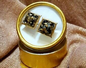 Orgonite ® cufflinks, VITAWunder cuff buttons, gold