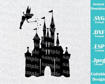 INSTANT DOWNLOAD SVG Disney Inspired Castle Tinkerbell for Cutting Machines Svg, Esp, Dxf and Jpeg Format Cricut Silhouette