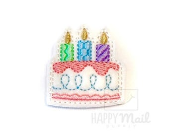 Birthday Cake Felties - CUT Felties - Set of 4