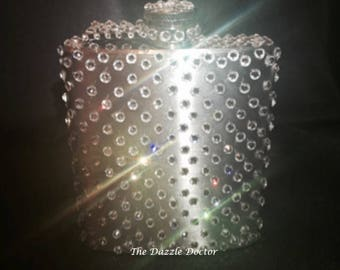 Bling flask, Swarovski flask, Rhinestone flask, Swarovski bling flask, Gift flask, Swarovski crystal flask, Silver flask, Bling Silver Flask
