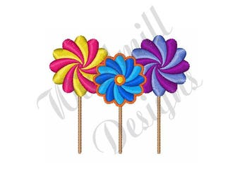 Candy Lollipop   - Machine Embroidery Design