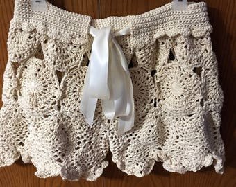 Crochet Lace Beach Shorts