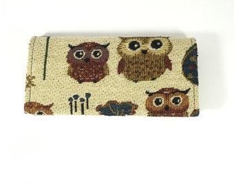 Tribal Wallet | Owl Fabric Wallet | Lady Wallet | Women Wallet | Cute Wallet | Thin Wallet | Flap Wallet | Unique Wallet | Boho Long Wallet