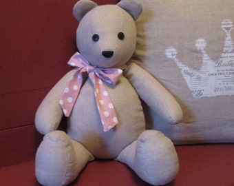 Linen Teddy Bear