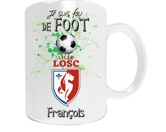 Personalized mug LOSC Lille football league1 with your name