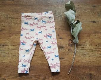 Legging pink horses