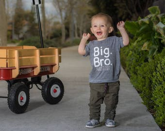 Big Brother Shirt-Big Brother Announcement Shirt-Sibling Shirt-Pregnancy Announcement Shirt-New Baby Announcement-Pregnancy Reveal-big bro