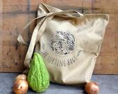 Canvas tote bag, green cotton bag, beach tote bag, reusable shopping bag, shopping tote, quote market bag, market tote, eco bag