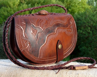 vegetable tanned leather - Cork oak bag