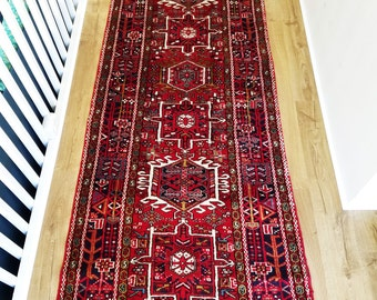 Persian Rug - Karaja Karadagh Rug - 3 x 10 - Vintage Early 1900s - Wool