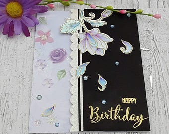 handmade flower birthday greeting card