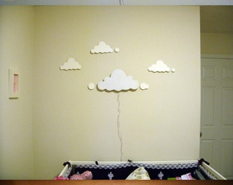 wooden lamp in the form of a cloud