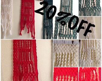 Mini Matching Christmas Macrame Wall Hanger (Set of 3)