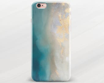 Oil iPhone 7 Plus Case Painting Case iPhone 7 Case Teal iPhone 6s Case Abstract Phone Case iPhone 6 Case iPhone 6 Plus Case Flexible Case