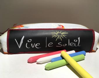 Kit messages. Erase to write in chalk slate Kit. Spring birds