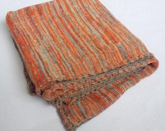 Children snuggle blanket with crochet edges