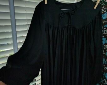 80's darkly decadent goth monk dress, free size!