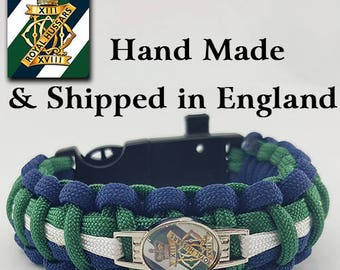 The 13th-18th Royal Hussars Regiment Paracord Bracelet Wristband Great Gift