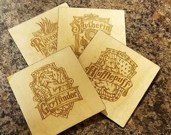 Harry Potter - House Logo Coasters