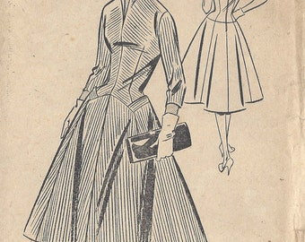 "1950s Vintage Sewing Pattern B32"" DRESS (R454) BESTWAY PATTERN E. 3, 198"