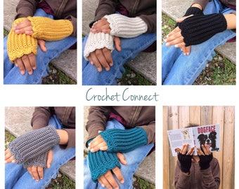 hand made fingerless mittens