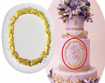 Mirror Wedding Cake Border Silicone Molds Flower Garland Fondant Cake Decorating Tools Frame Cupcake Chocolate Baking Moulds