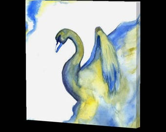 Canvas Gallery Wrap (Smoke Swan)
