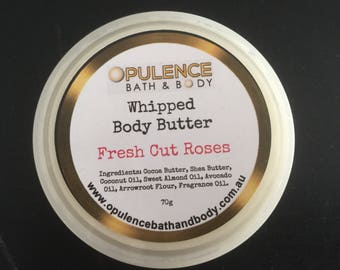 Whipped Body Butter, Roses, Shea Butter, Cocoa Butter,
