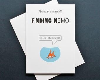 Funny Finding Nemo card, Finding Nemo card, Finding Nemo movie, Finding Nemo film