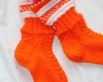 Socks hand knitting