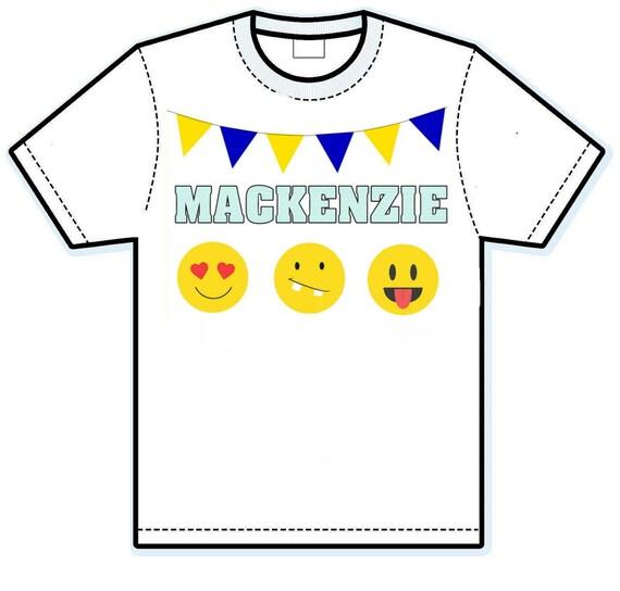 Emoji personalized shirt