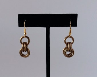 Bronze 'Rings' Earring